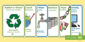 Eco Display Posters English/Romanian - Eco Poster Pack - eco, poster, posters, poster pack, display , eal,