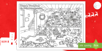 Crazy Christmas Colouring Challenge English/German - Santa, Father Christmas, Elf, December, Advent, EAL, German, English-German,,German-translation