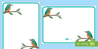 Kingfisher Themed Editable Classroom Area Display Sign - Themed Classroom Area Signs, KS1, Banner, Foundation Stage Area Signs, Classroom labels, Area labels, Area Signs, Classroom Areas, Poster, Display, Areas