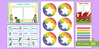 Today's Helper: Nursery and Reception Resource Pack Welsh - Helpwr Heddiw, Welsh, Todays Helper, Siarter Iaith, Back To School, New Year,Welsh