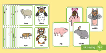 BSL Animal Flashcards - BSL Resources, British Sign Language, signing