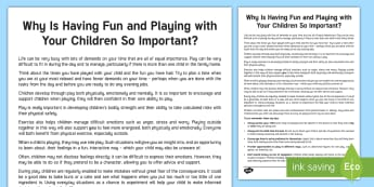 Why Is Having Fun and Playing with Your Children Important? Adult Guidance - relationships, play, social skills, friendship, emotional wellbeing - relationships, play, social skills, friendship, emotional wellbeing