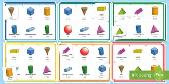 3D Shape Properties Bingo English/Mandarin Chinese - Requests KS1, lotto, shape properties, mastery, EAL