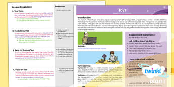 History: Toys KS1 Planning Overview