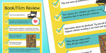 Book or Film Review Display Poster - book and film reviews, book reviews, review writing guide, writing a review, review writing poster