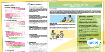 Geography: Exploring Eastern Europe Year 5 Planning Overview CfE