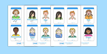 Ourselves Flashcards Urdu Translation - urdu, Emotions, Feelings, All about me, ourselves, feelings display, feelings banner, emotions display, expression, happy, sad, angry, scared