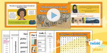 PlanIt Y5 Term 1A W6: Homophones and Near Homophones Spelling Pack