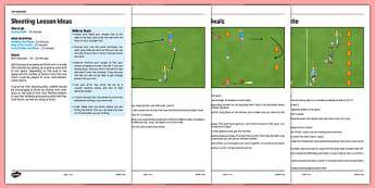 LKS2 Football Skills 3: Shooting Lesson Pack - football, PE, sport, exercise, KS2, LKS2, Key Stage 2,  year 3, year 4, skills, physical education, ball skills, team sports