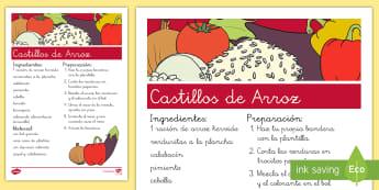 Castillos de arroz  - comer sano, comida sana, comer saludable, comida saludable, fruta, verdura, dieta saludable, dieta s