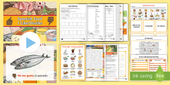 KS2 Summer Fun in the Holidays: Learn Spanish Activity Pack - languages, Spanish food, language games, language activities, Language puzzles,