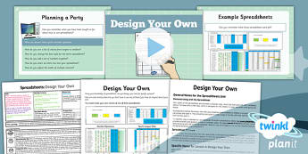 Computing: Excel Spreadsheets: Design Your Own Year 6 Lesson Pack 6