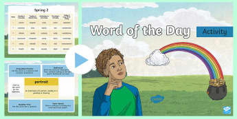 Year 3 Spring 2 Word of the Day PowerPoint - vocabulary, spelling, sPaG, VCOP, writing, grammar, punctuation, adverbs, nouns, adjectives, verbs,