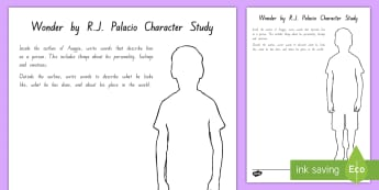 Years 5 and 6 Chapter Chat Auggie's Character Activity to Support Teaching on Wonder by R.J Palacio - literacy, reading, chapter chat, wonder, RJ Palacio