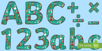 Christmas-Themed Display Letters and Numbers Pack - Letters, Alphabet, Xmas, Christmas, Signs, Displays, Maori