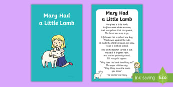 Mary Had a Little Lamb Nursery Rhyme IKEA Tolsby Frame - baby signing, baby sign language, communicate with baby, pre verbal baby, tiny talk, sing and sign,