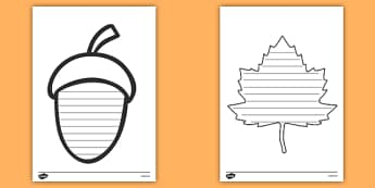Autumn / Fall Themed Shape Poetry Templates - seasons, weather, poems
