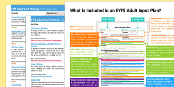 EYFS Colour Adult Input Planning and Resource Pack Overview - Colour, rainbow, eyfs, early years, planning, plans, colour mixing