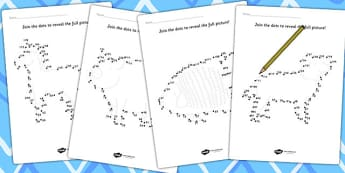 Counting in 3s Dot to Dot Sheets Animals - count, maths, numeracy