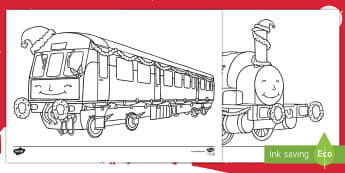 Christmas Trains Colouring Pages - KS1, Key Stage One, Trains, Festive, Themed,Travel, Vehicles, December, Winter