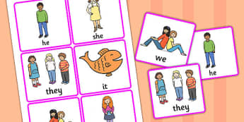 Personal Pronoun Picture Support Cards - learning support, SEN