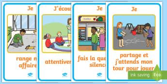 Posters d'affichages : La semaine de la gentillesse, les bonnes manières - politesse, écouter, ranger, jouer, décoration