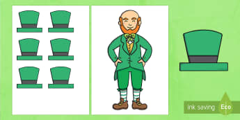 Put the Hat on the Leprechaun Game - KS1& 2 St Patrick's Day UK March 17th 2017, St Patrick's Day, St Patrick, leprechaun, hat, game, t