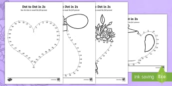 Mother's Day Dot to Dot in 2s Activity Sheet - Worksheet, mothering sunday, mother's day, 2s, twos, count, 2 times table