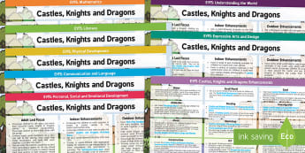 EYFS Castles, Knights and Dragons Lesson Plan and Enhancement Ideas  - Early Years Planning, Adult Led, Continuous Provision, Kings and Queens, Royal Family, History, Unde