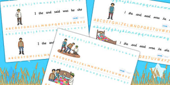The Farmer and His Sons Alphabet Strips - a-z strip, writing aid