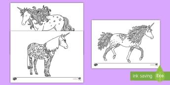 Unicorn Mindfulness Colouring Pages English/Spanish - EAL, Unicorn Mindfulness Colouring Sheets - unicorn, mindfulness, colouring, sheets, colour,mindfull