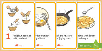 Pancake Recipe Cards - Pancake day, recipe, pancake, shrove Tuesday, pancakes, recipe card, making pancakes, display poster, recipe information