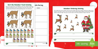 CfE Early Level Christmas Information Handling Activity Pack - christmas, maths, festive, information handling, data handling
