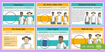 Hoop Games and Activities Activity Pack - Hoop, hoop games, hula hoop, team games, pE, Physical Education. sport, KS2, Y3, Y4, Y5, Y6