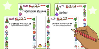 Christmas Role Play Writing Borders Polish Translation - writing, diplay, neat, final copy, margins, festive, pictures, images, early years, ks1, ks2