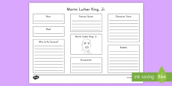 Martin Luther King, Jr. Biography Web Activity - Martin Luther King Jr, MLK, civil rights, Black History, Dr. King
