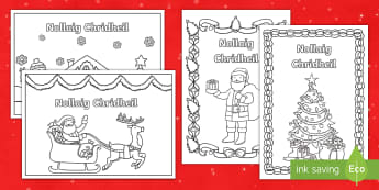 Cfe- A' Chiad Ire- Cairtean Nollaig - Cfe, A' chiad Ire, Nollaig, Cairtean, cuir dath, santa, gaelic,Scottish