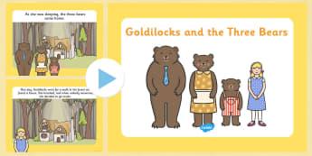 Goldilocks and the Three Bears - goldilocks and the three bears story powerpoint, goldilocks, goldilocks powerpoint, goldilocks story, story sequencing