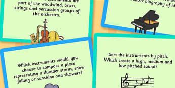 UKS2 Music Challenge Cards - Music, Challenge, Cards, Sound, UKS2