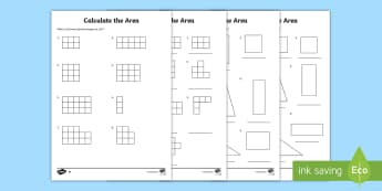 Measurement Find The Area Of Rectilinear Shapes By Counting Squares