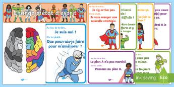 Pack d'affichage : Les super héros - L'état d'esprit de développement - affiches, posters, display, affichage, super héros, growth mindset, état d'esprit de développeme