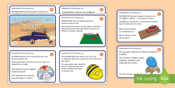 KS1 Bloodhound SSC STEM Challenge Cards - Bloodhound, SSC, Supersonic, STEM, Challenge, Problem Solving, Problems, Science, Engineering, Techn
