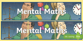 Mental Maths Display Banner - Problem, Solving, Agility, Head, Numbers, Solve,,Scottish