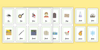 FL Flash Cards - sen, sound, special educational needs, fl, flash cards