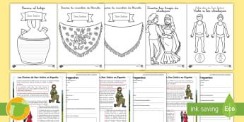Pack de recursos: San Isidro - san isidro, pack, fiesta, festivo, madrid, madrileño, comprensión, colorear, diseñar, mantón, bo