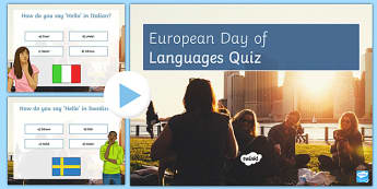 European Day of Languages Quiz PowerPoint