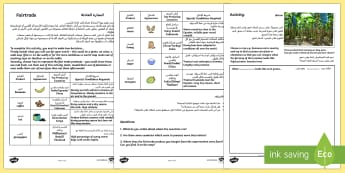 Fairtrade Activity Where Things Grow Arabic Translation - Arabic/English - الإنجليزية / العربية-Arabic-translation - Fairtrade Activity Where Things Grow - activities, fair, trade EAL Arabic,Arabic-translation