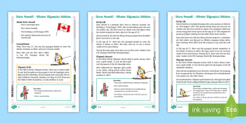 KS1 Dara Howell 2018 Winter Olympics Athlete Differentiated Fact File - PE, sport, event, ski, athletics