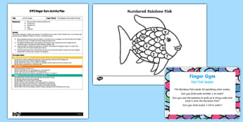 EYFS Foil Fish Scales Finger Gym Plan and Resource Pack