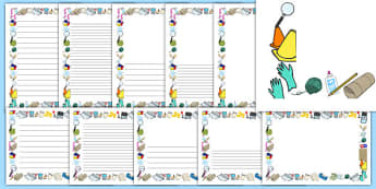 Materials Page Border Pack - materials, page border, pack, page, border